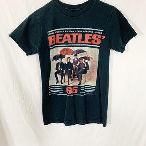 Beatles- black vintage style short sleeve Tee